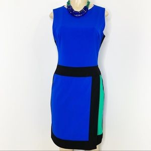 LAUREN RALPH LAUREN Colorblock Dress Size 10